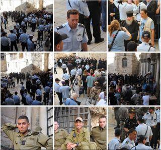 Схождение Благодатного Огня, фоторепортаж Израиль в лицах