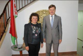 Элеонора Гройсман и Посол Беларуси в Израиле Владимир Скворцов