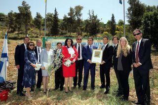 Посадка оливкового дерева В Роще Народов, Иерусалим