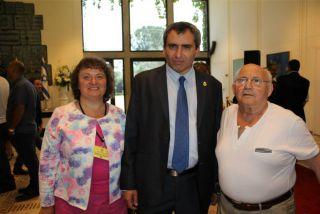 Элеонора Гройсман, министр Зеэв Элькин и Йосеф Ройтман, фото Израиль в лицах